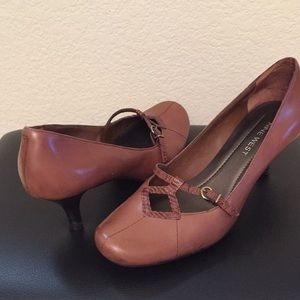 Nine West 2 inches brown pumps shoes